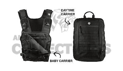Mission Critical Tactical FRONT BABY CARRIER & DAYPACK CARRIER Bundle BLACK