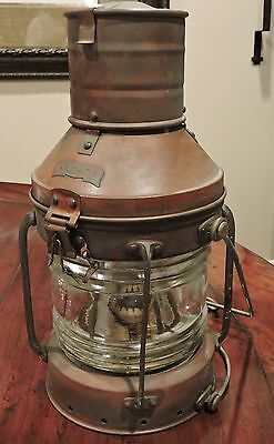 Large Vintage Brass Anchor Ship Lantern Light Nautical Maritime Boat Navy Decor