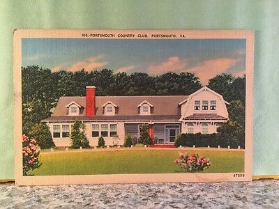 Postcard, Portsmouth Country Club,,virginia