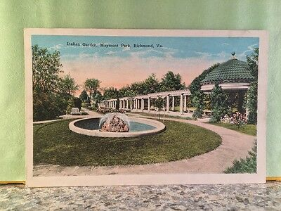 Postcard Italian Garden, Maymont Park, Richmond,virginia
