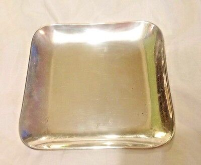 Mexican Solid Sterling Silver Tray Signed MRM Small Serving Tray Vanity-296 Gram