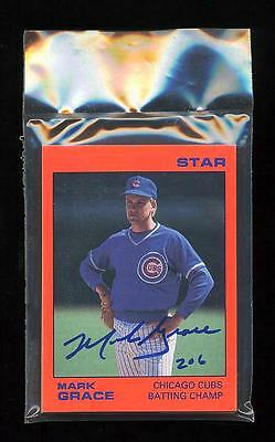 Mark Grace 1988 Star Company Set Signed Unopened Chicago Cubs