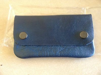 Blue Leather Tobacco Pouch..New In Packet