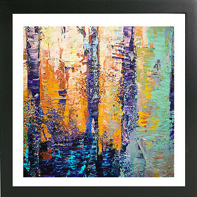 16 x 16 ORIGINAL MODERN ABSTRACT  LANDSCAPE FINE ART POSTER FOR SALE