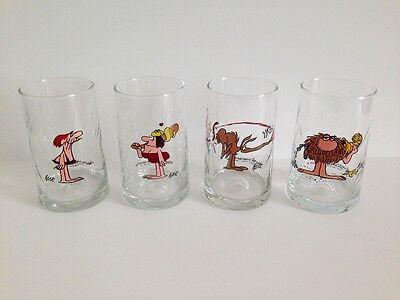 Vintage 1980s 1981 Arby's B.C. Ice Age Collector Series Hart Drinking Glasses