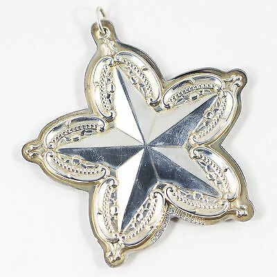 towle / sterling 2002 christmas star / ornament
