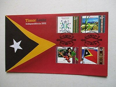 2002  Timor  Independence  First  Day  Cover.