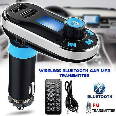 Car Kit MP3 Music Player Wireless Bluetooth FM Radio Transmitter With USB Port