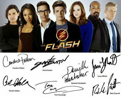 The Flash S2 Grant Gustin Danielle Panabaker Cast Signed Photo Autograph Reprint
