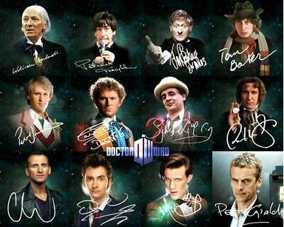 Doctor Who 12 Doctors Matt Smith David Tennant Signed Photo Autograph Reprint