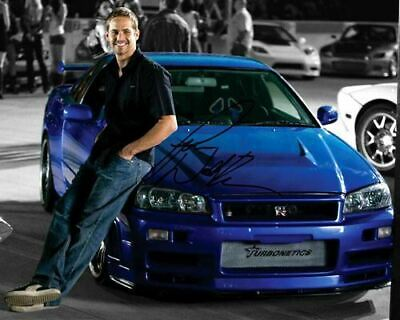 Paul Walker the Fast and Furious Skyline GTR Signed Photo Autograph Reprint