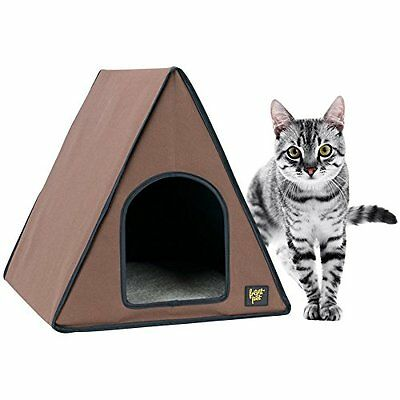 FrontPet 40 Watt Canvas Heated A-Frame Cat House for Indoor Cats / Cat House /