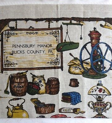 Vintage Ad Pennsbury Manor Bucks County Pa Hanging Sign Country Store