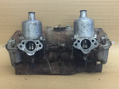 Mgb Twin Su Hs4 Carbs On Manifold With Linkages / Aud492 Carburettors