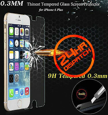 100%Genuine Tempered Glass Screen Protector 1+1 For Iphone 6Plus {[lgA10