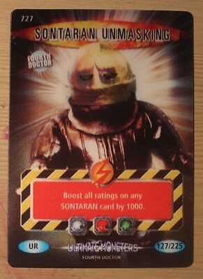 Dr Doctor Who Battles in Time Ultra Rare Sontaran Unmasking Card #727