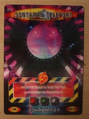 Dr Doctor Who Battles in Time Ultra Rare Sontaran Teleport Card #913