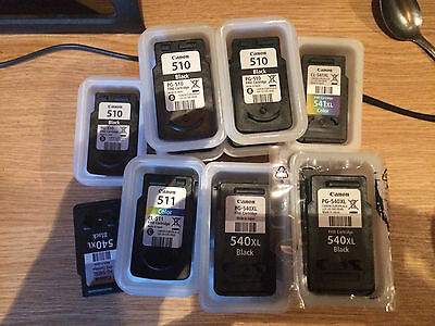 Canon 540/ XL  & 541/ XL  Empty Ink Cartridges  Never refilled - 13 Total