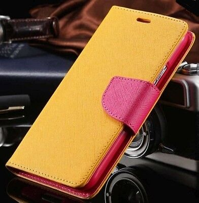Luxury Mercury Magnetic Yellow & Pink Flip Case Cover For Galaxy S5 {[mf164