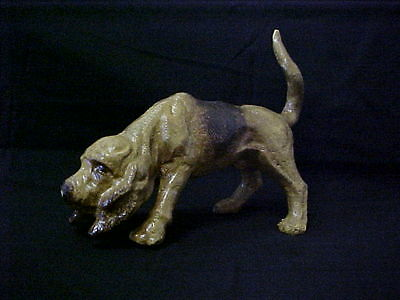 Blood Hound Hunting Dog New Cast Iron Heavy Doorstop Statue