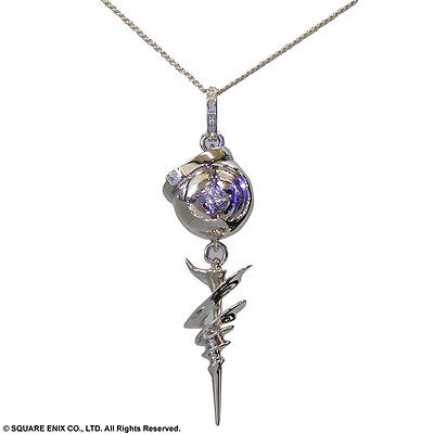Square Enix Final Fantasy XIII 13 Silver Engagement Pendant Necklace Ring Serah
