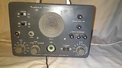 Heathkit Visual - Aural Signal Tracer model T-3 powers up with audio
