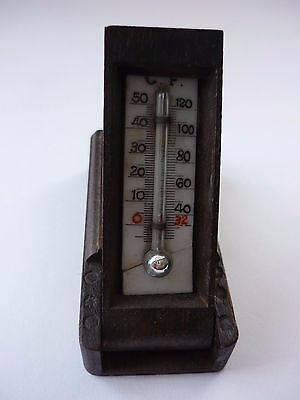 Very Old Treen Black Forest Traveling Thermometer Still Works Perfectly C 1900