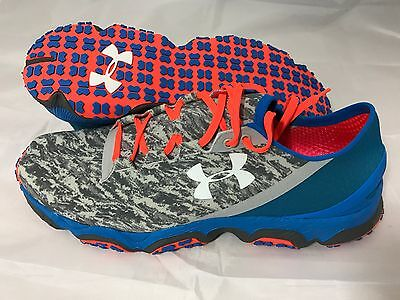 Under Armour Speedform XC Trail Mens Running Shoes Trainers Grey Blue