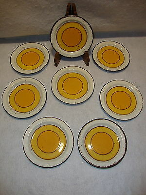 "Wedgwood MIDWINTER STONEHENGE SUN 7"" BREAD & BUTTER PLATE Lot x 8 Made England"
