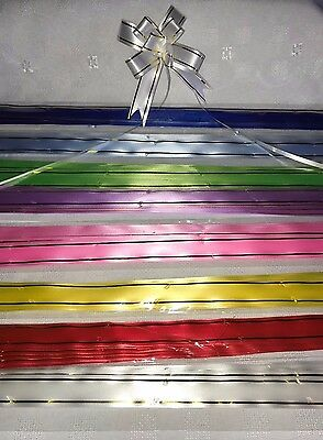 10 x Mini Pull Bows In 8 Colours For All Occasions Florists Christmas Gifts
