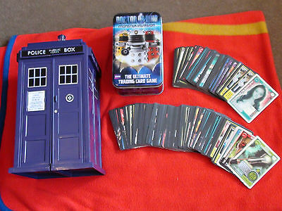 Doctor Who Tardis Monster Invasion Card Holder + Tin + 189 Cards Extreme