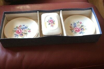 LORD NELSON BOXED SET 2 Pin Dishes & Matching Lidded Trinket Box (1979) VGC!