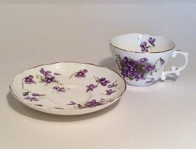 Hammersley china cup and saucer - Victorian Violets