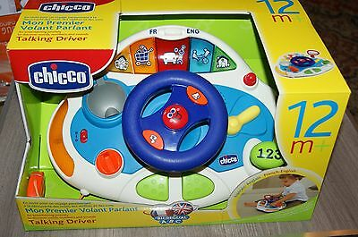 Chicco Talking Driver Ages 12 Months+ Teaches Words Numbers & Sounds Brand New!