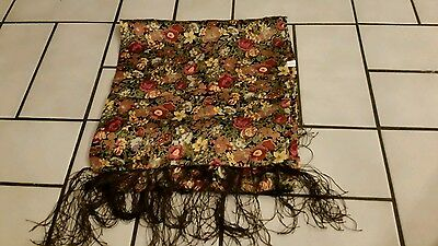 100% silk vintage floral ladies  scarf