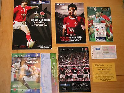 England V Wales Rugby Programmes