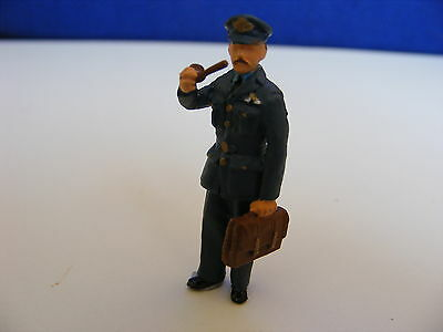 Royal Air Force Officer with Brief Case and Pipe - 1:43 Painted Metal Model