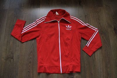 Adidas 80's 90's  Vintage Red  Classic   Europe  Track Top   100% Authentic