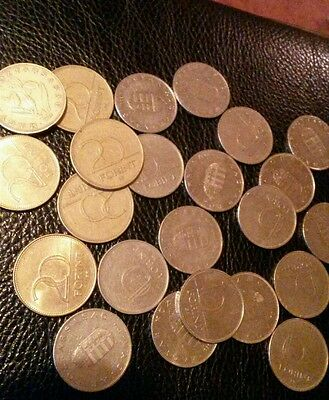 Hungary Forint coins.