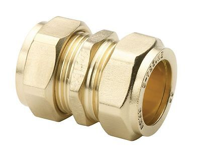 15mm Brass Straight Compression Coupler Connector Multiple Packs CC15