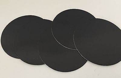 "5 x 7"" INCH (17.5cm) Round THIN CAKE  boards Cards BLACK Support Cupcake Culpitt"
