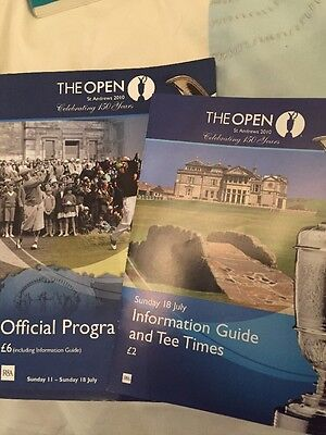 The British open 2010 Programme & Order Of Play