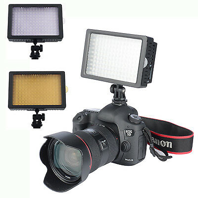 UK 160 LED Video Light Lamp for Canon Nikon Pentax DSLR Camera Video Camcorder