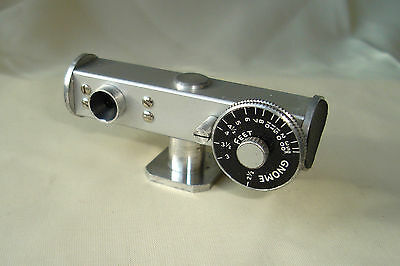 Gnome camera rangefinder with leather case.