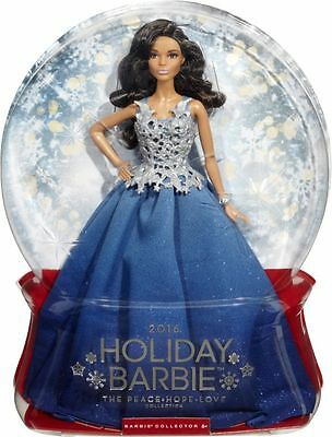 2016 Holiday Barbie  The Peace Hope Love Edition Blue Gown New boxed