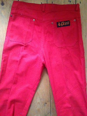 """Vintage red jeans 80s size 14. 36"""" long"""