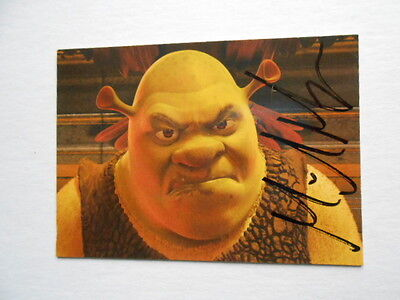 Shrek movie Mike Myers signed in person card with COA
