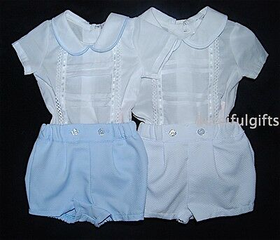 Baby Boys Spanish 2 Piece Shirt & Shorts Set/Outfit NB 0-12 Month *CHECK SIZING*