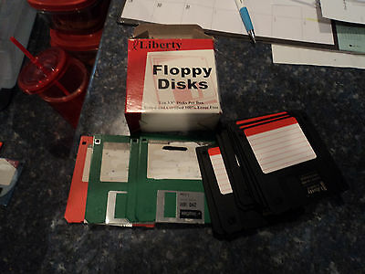 "IBM formatted  3.5"" micro floppy disc 12 diskette pack[ BOX 4 ]"