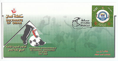 Z5005 Oman FDC FIFA 100 years 1904-2004 21-5-2004 Muscat